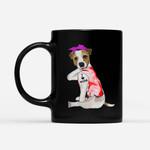 Coffee Mug Gift For Mom Ideas - Women Jack Russell Terrier Dog Tattoo I Love Mom - Black Mug