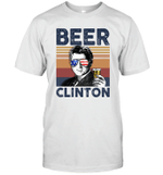 Beer Clinton US Drinking 4th Of July Vintage Shirt Independence Day American Gift