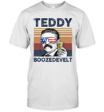 Teddy Boozedevelt US Drinking 4th Of July Vintage Shirt Independence Day American Gift