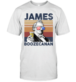 James Boozecanan US Drinking 4th Of July Vintage Shirt Independence Day American Gift
