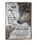 Wolf to my Son never forget that i love you blanket, Fleece Blanket