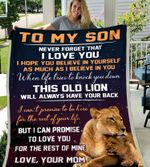 Lion King To my son never forget that I love you blanket, Fleece Blanket