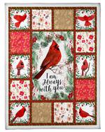 Blanket Cardinal Bird I Am Always With You Fleece Blanket
