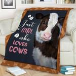Heifer just girl who loves cows Blanket – Fleece Blanket