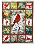 Bird I'm Always With You Flower Fleece Blanket