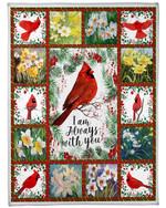 Bird I'm Always With You Flower Fleece Blanket