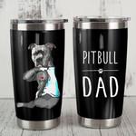 Pitbull Bulldog Dad Steel Tumbler Funny Dog Father's Day Gift