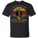 Vintage Retro Tom Petty She's a good girl love her mama love Jesus and America too Shirt