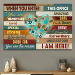 When you enter this office you are amazing important safe Landscape Poster