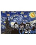 The Horror Movie Starry Night Gogh Poster