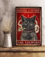 Cat Smoke Catnip Hail Lucipurr Poster