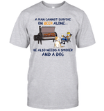 A Man Cannot Survive On Beer Alone He Also Needs A Smoker And A Dog Shirt