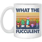 Cactus What The Fucculent Vintage Mug