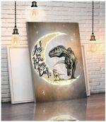 I Love You To The Moon And Back Dinosaurs Poster