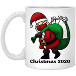 Santa With Face And Toilet Paper Funny Christmas 2020 Mug