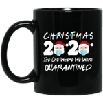 Christmas 2020 The One Where We Were Quarantined Christmas Mug Santa Face Wearing Funny Coffee Mugs