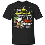 Snoopy It's A Hallmark Christmas Movies And Coffee Kind Of Day T-shirt
