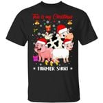 Pig Sheep Chicken Cow Santa This Is My Christmas Farmer