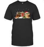Three Santa Baby Yoda Christmas Shirt