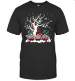 Three Gnome Buffalo Plaid Christmas Tree Light Ugly Santa Hat Shirt