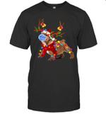 Bulldog Reindeer With Face Mask Christmas Light Funny Shirt