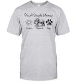 I'm A Simple Woman Sunshine Elephant Dog's Paw Shirt