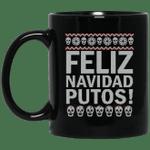 Feliz Navidad Putos Ugly Christmas Sweater Mug – Merry Christmas Fucking Mug – Funny Xmas Gifts