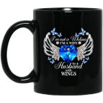 I'm Not A Widow I'm A Wife To A Husband With Wings Mug, Christmas Memorial Coffee Mugs, Xmas Memorial Gift