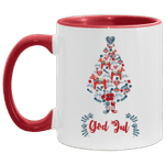 God Jul Dala Horse Tree Swedish Christmas Gifts Mug