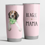 Beagle Mama Mama Steel Tumbler Funny Dog Mother's Day Gifts.