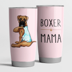 Boxer Mama Pink Cute Steel Tumbler Funny Dog Mother's Day Gifts