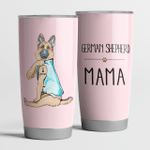 German Shepherd Mama Pink Cute Steel Tumbler Funny Dog Mother's Day Gifts.