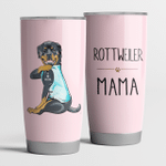 Rottweiler Mama Pink Cute Steel Tumbler Funny Dog Mother's Day Gifts.