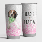 Beagle Mama Pink Sliver mama Steel Tumbler Funny Dog Mother's Day Gifts