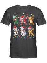 Dabbing Santa Elf Friends Christmas Kids Boys Men Xmas Gifts T-Shirt