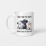 Shih Tzu Dogs Make Me Happy Humans Make My Head Hurt Mug Dog Love Coffee Mug