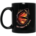 She Taught Me To Fly Butterfly Best Friend Couple Mug