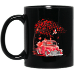 Bird Red Truck Happy Valentines Day Cute Couple Matching Mug