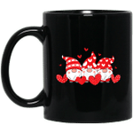 Three Gnomes Holding Hearts Valentines Day Gift for Her Mug