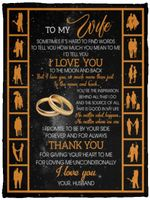 Husband To My Wife Sometimes It's Hard to Find Words Tell You Fleece Blanket – Mink Blanket