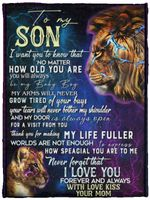 To My Son I Want You To Know You'll Always Be My Baby Boy Galaxy Fleece Blanket – Mink Blanket