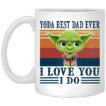 Yoda Best Dad Ever I Love You I Do Vintage Mug