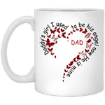 Daddy'S Girl I Used To Be His Angel Now He'S Mine Heart Butterfly Dad Gifts Mug