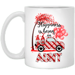 Gnomes Holding Hearts Happiness is being an Aunt Valentine's Day Gift Mug