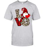 Gnomes Valentines Love Leopard Plaid Couple Matching Shirt
