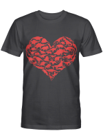Boys Valentines Day Shirt - Dinosaur Heart Kids Dino Gift T-Shirt