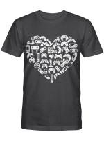 Boys Gamer Gift - Game Heart Valentines Day Lover Men Kids T-Shirt