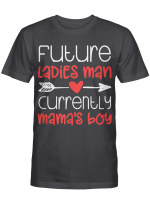 Valentine's Day Tshirt Boy Cute Ladies Man Mama's Tshirt T-Shirt