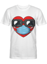 Heart In A Mask Funny Valentines Day Gift T-Shirt