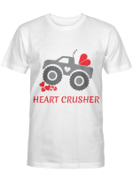 Heart Crusher shirt Boy Valentines Day T Shirt Truck Tee